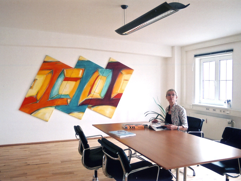 Kunde w3design, Hannover, Umsetzung, Platzierung im Besprechungsraum