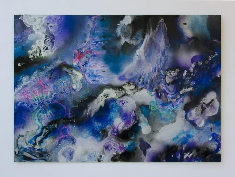 drifting, Sprühlack auf Holzplatte, 80 x 60 cm, 2015