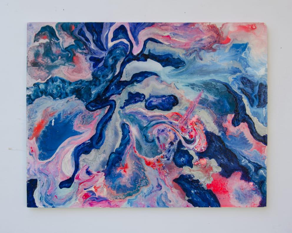 lightlife Nr. 5,  Sprühlack und Acryl auf Holzplatte, 20 x 40  cm, 2016