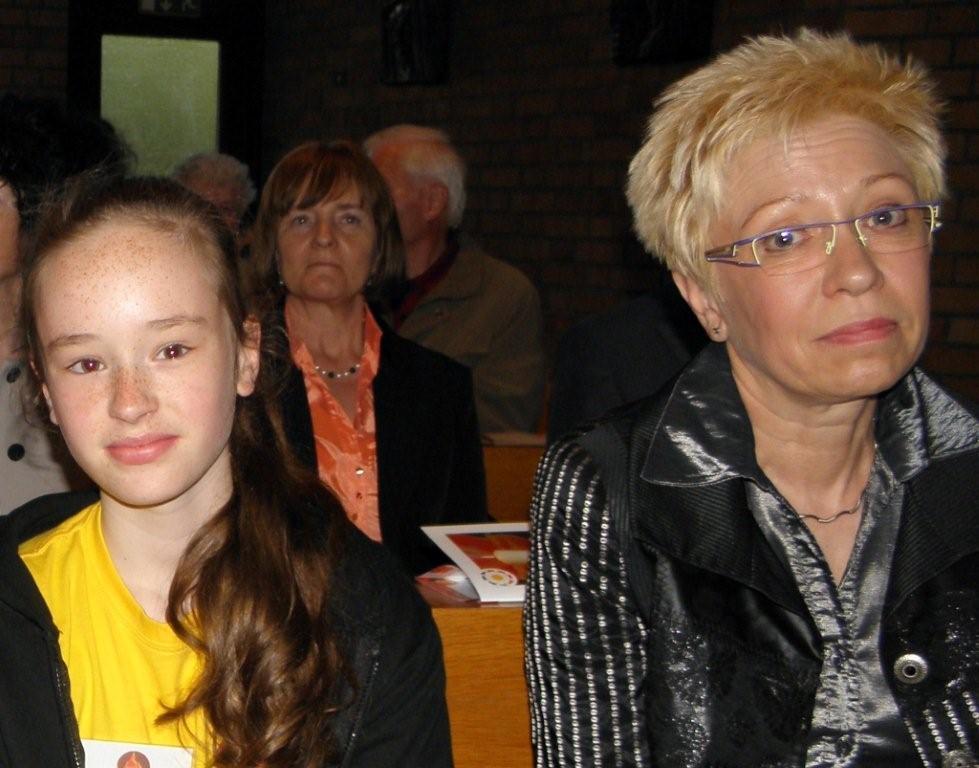 Kinder-Botschafter Frances und Landtagspräsidentin S. Bretschneider