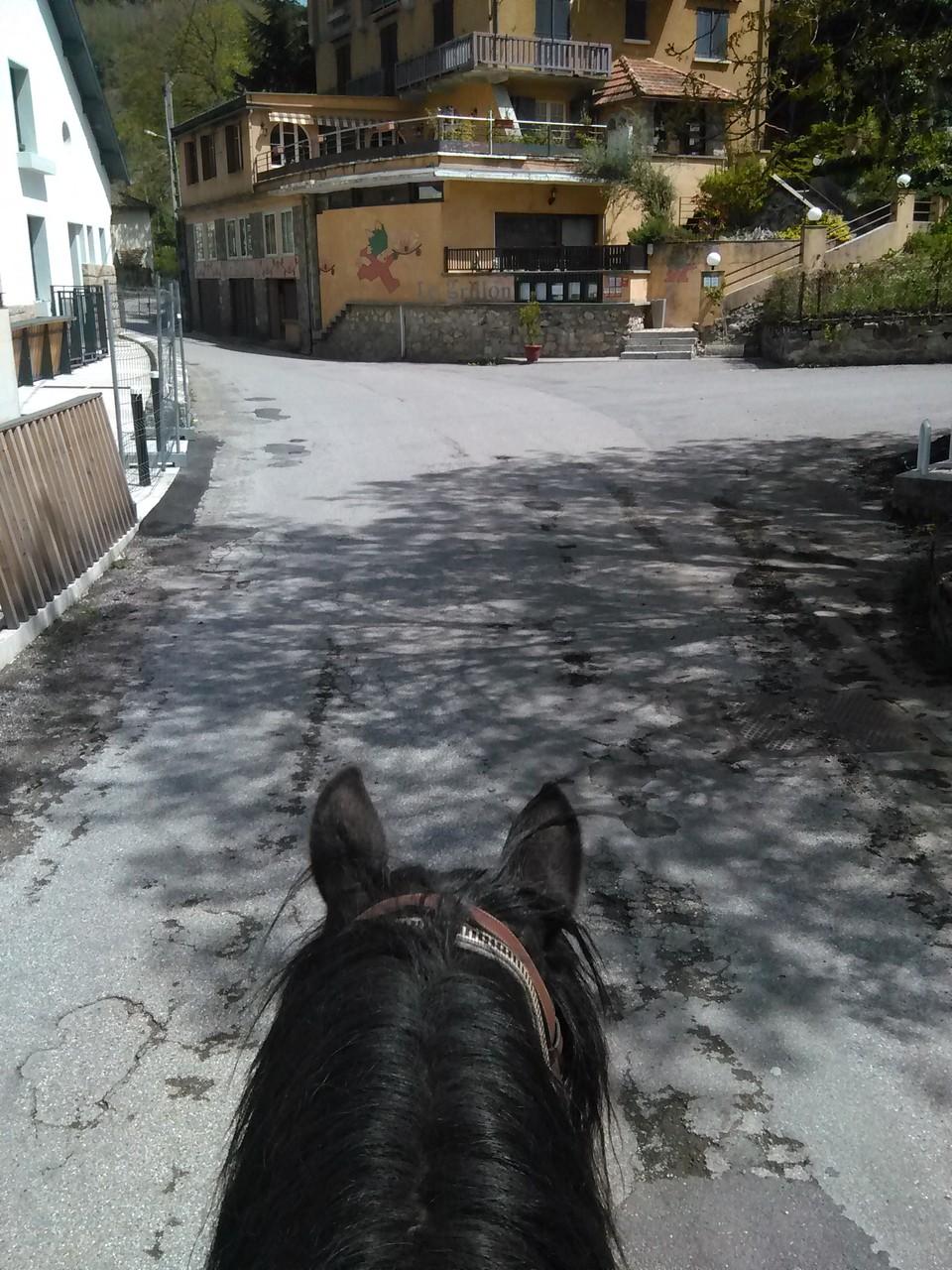 La traversée d'ax les Thermes à cheval (petite journée