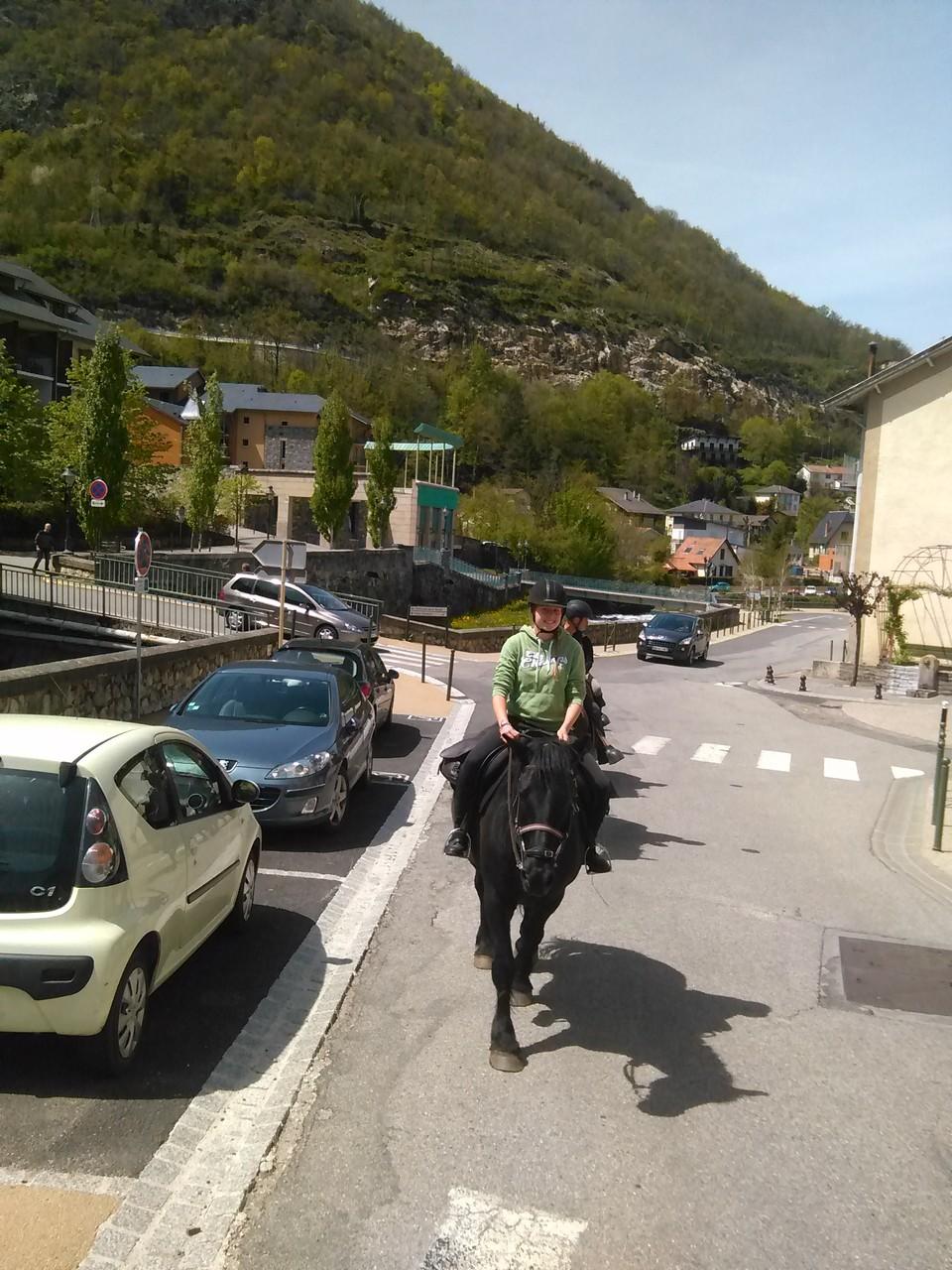 La traversée d'ax les Thermes à cheval (petite journée)