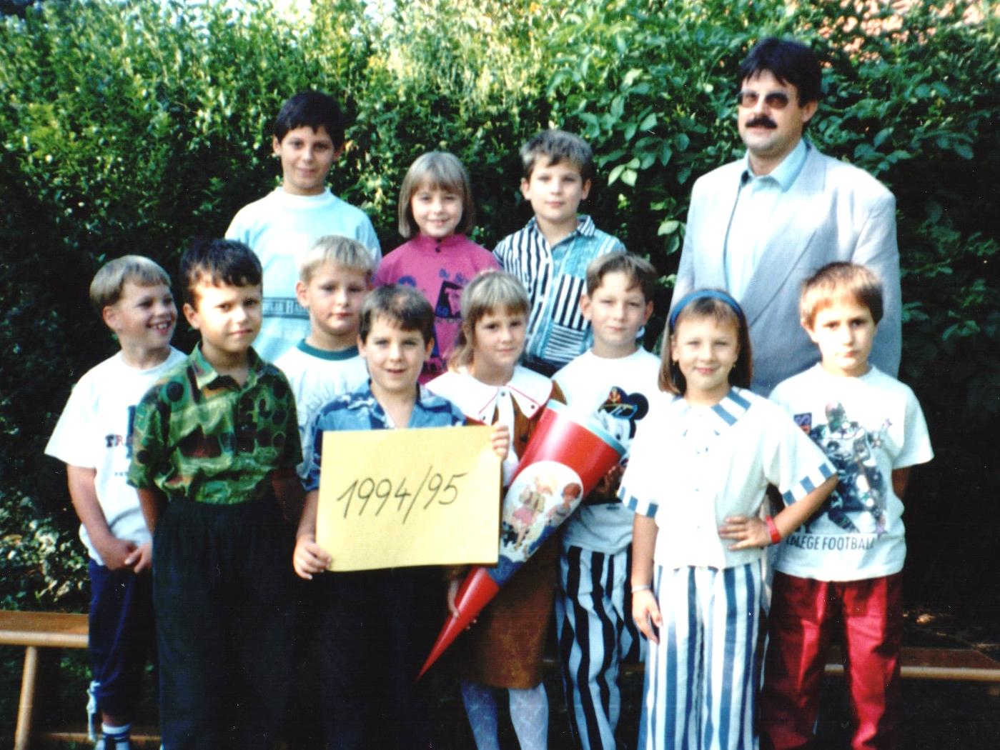 1994-95  1. Kl. (1.-4. Schst.) mit KL Gerhard Kappacher
