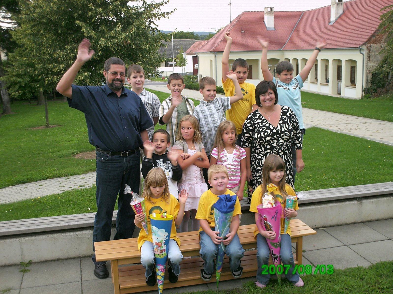 2007-08  1. Kl. (1.-4. Schst.) mit KL Gerhard Kappacher, Ass.L Isolde Josef