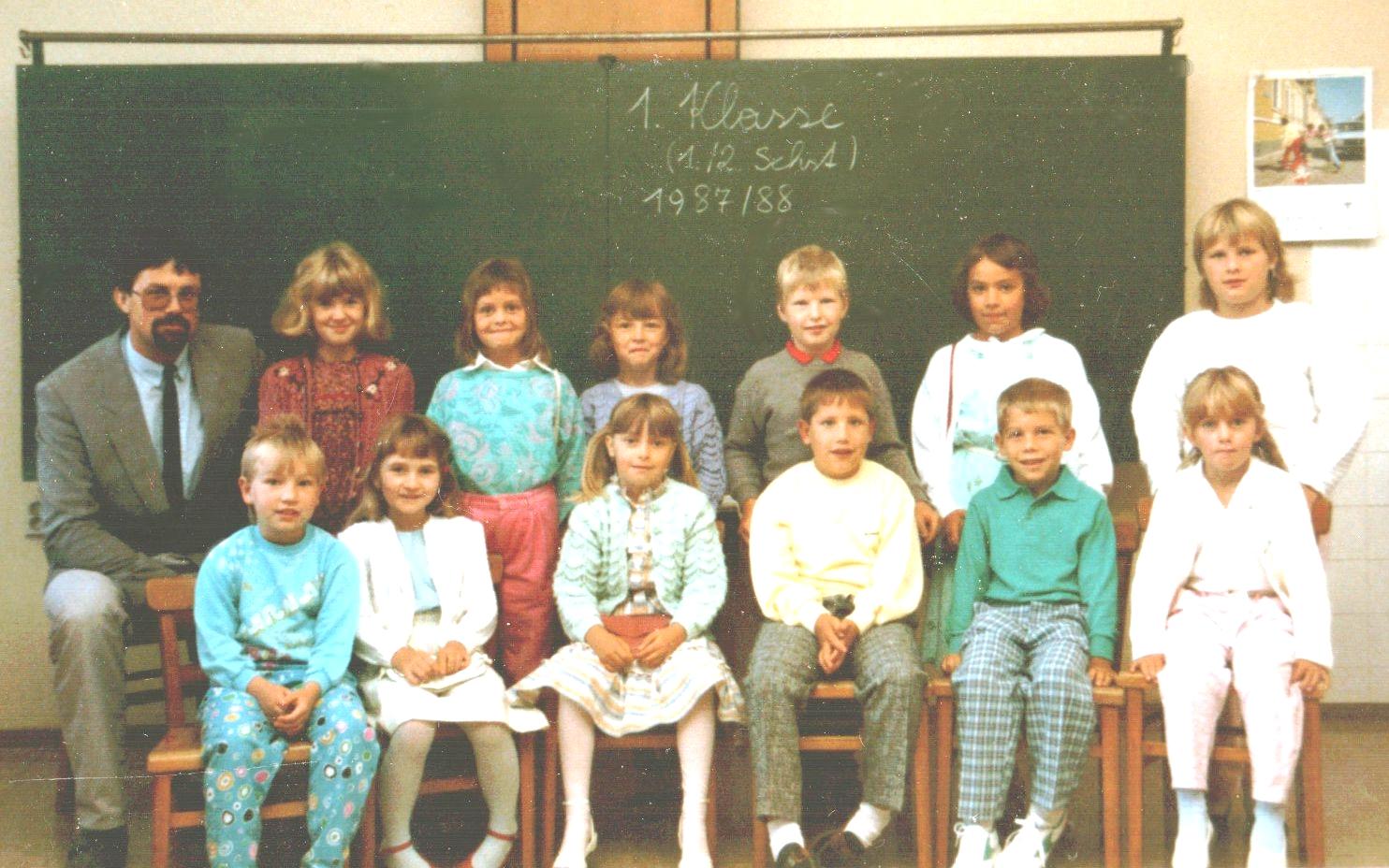 1987-88  1. Kl. (1./2. Schst.) mit KL Gerhard Kappacher