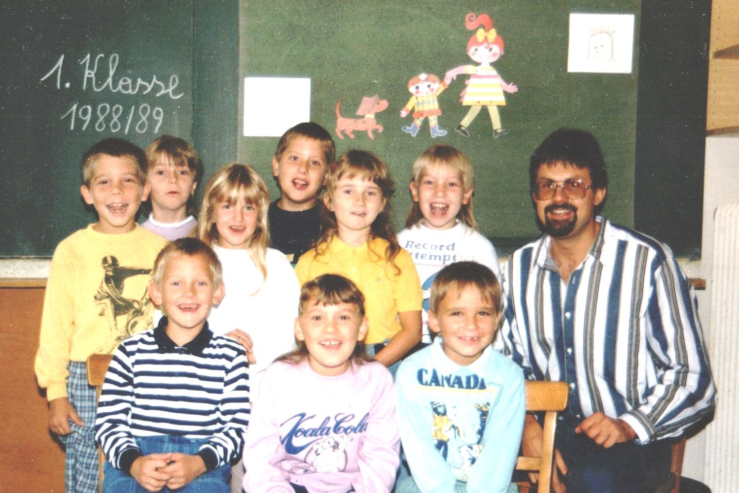 1988-89  1. Kl. (1./2. Schst.) mit KL Gerhard Kappacher