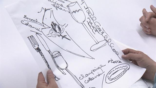 ポールが手書きでロードマップを描き、佐々木常務に渡す。