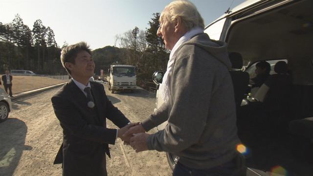 釜石でエイワ佐々木常務から温かいもてなしを受けた。