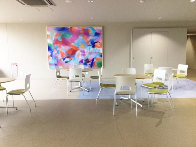 「咲く」 油彩画 194cm×259cm  森本岩雄 京都私立芸術大学名誉教授