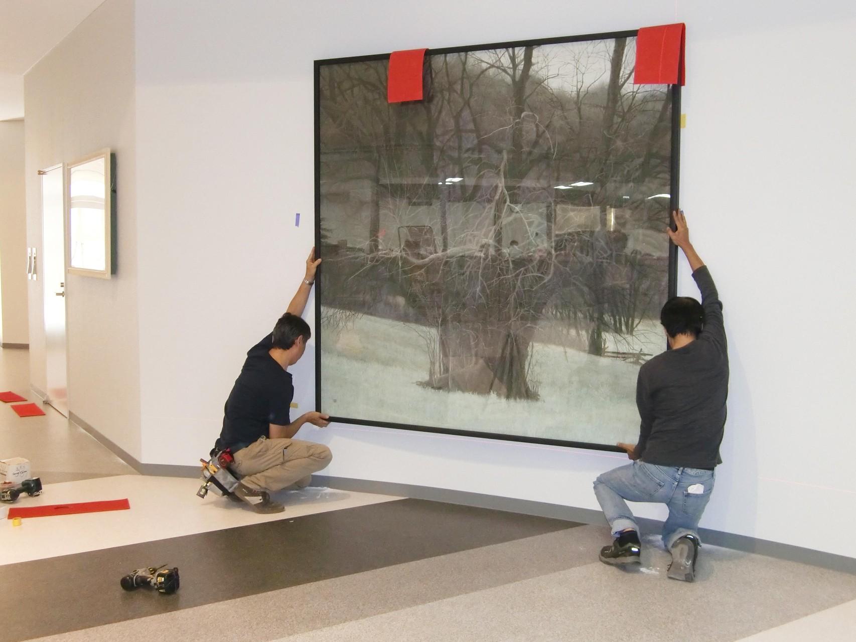 「廻 」198 ×198㎝ (150号) 日本画 日展 2006年 北野治男 日展会員