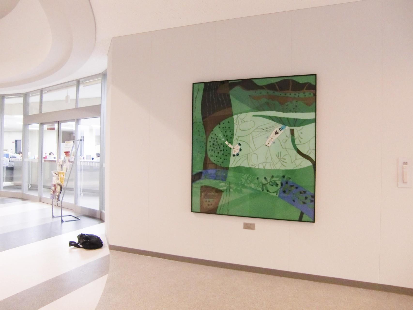 「水生」 151×150cm 染色 ローケツ 日展 2006年 井隼慶人 日展会員