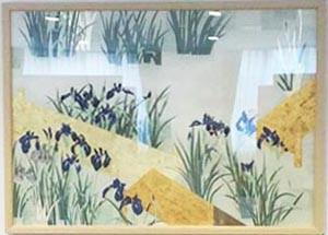 「八つ橋 かきつばた」 149×210cm 日本画 2014年 松本祐子 創画会会員