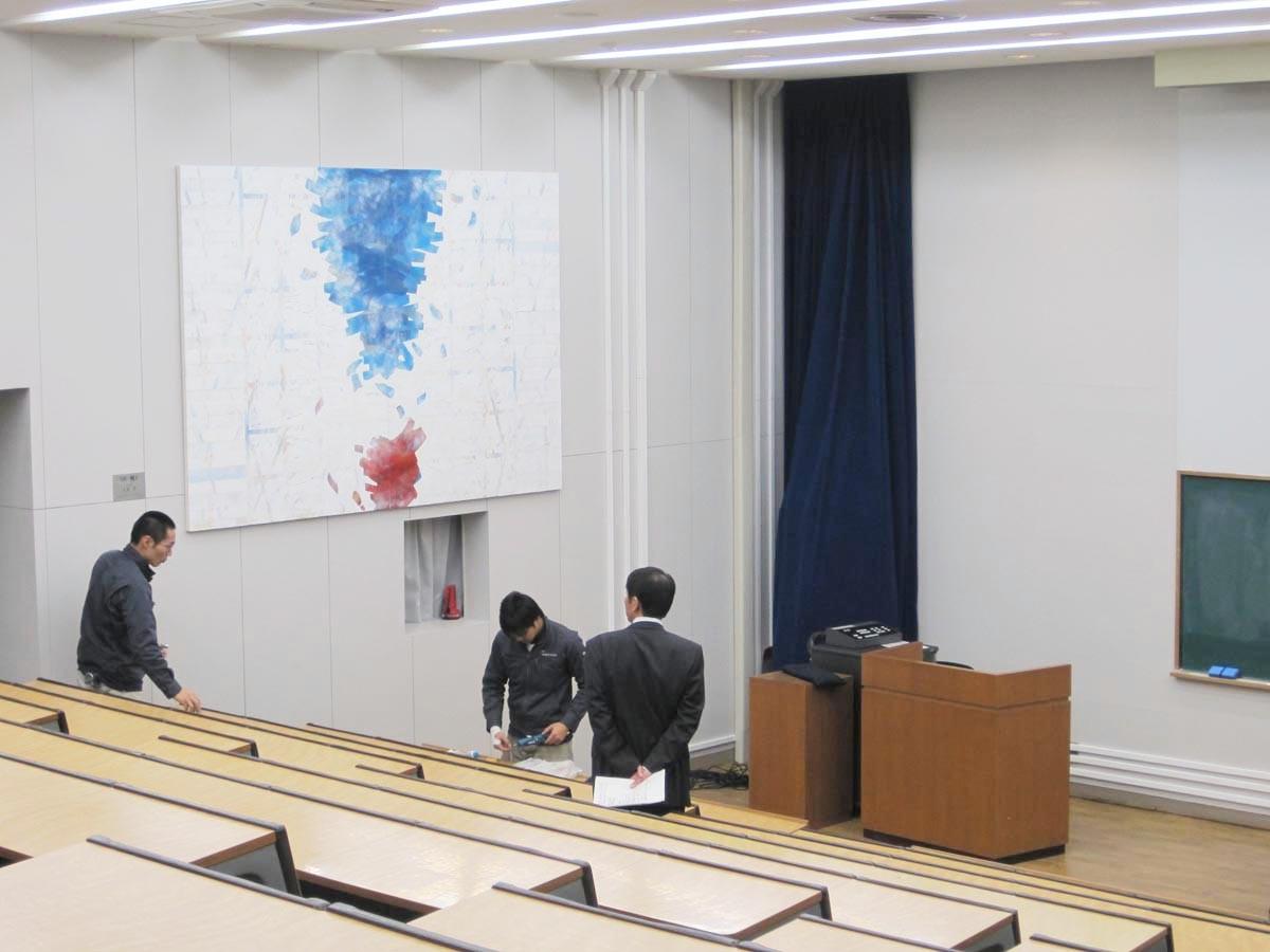 「`08−風1ー  」 260×194cm 油彩 国展  大田洋 国画会会員