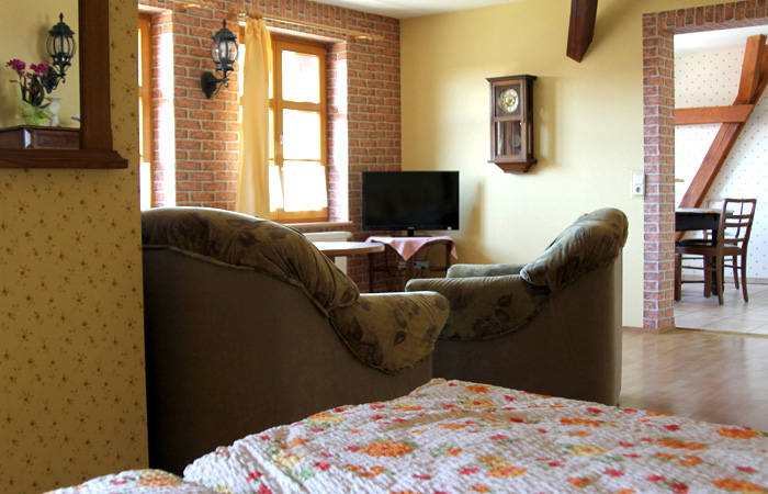 Blick zum Wohnzimmer