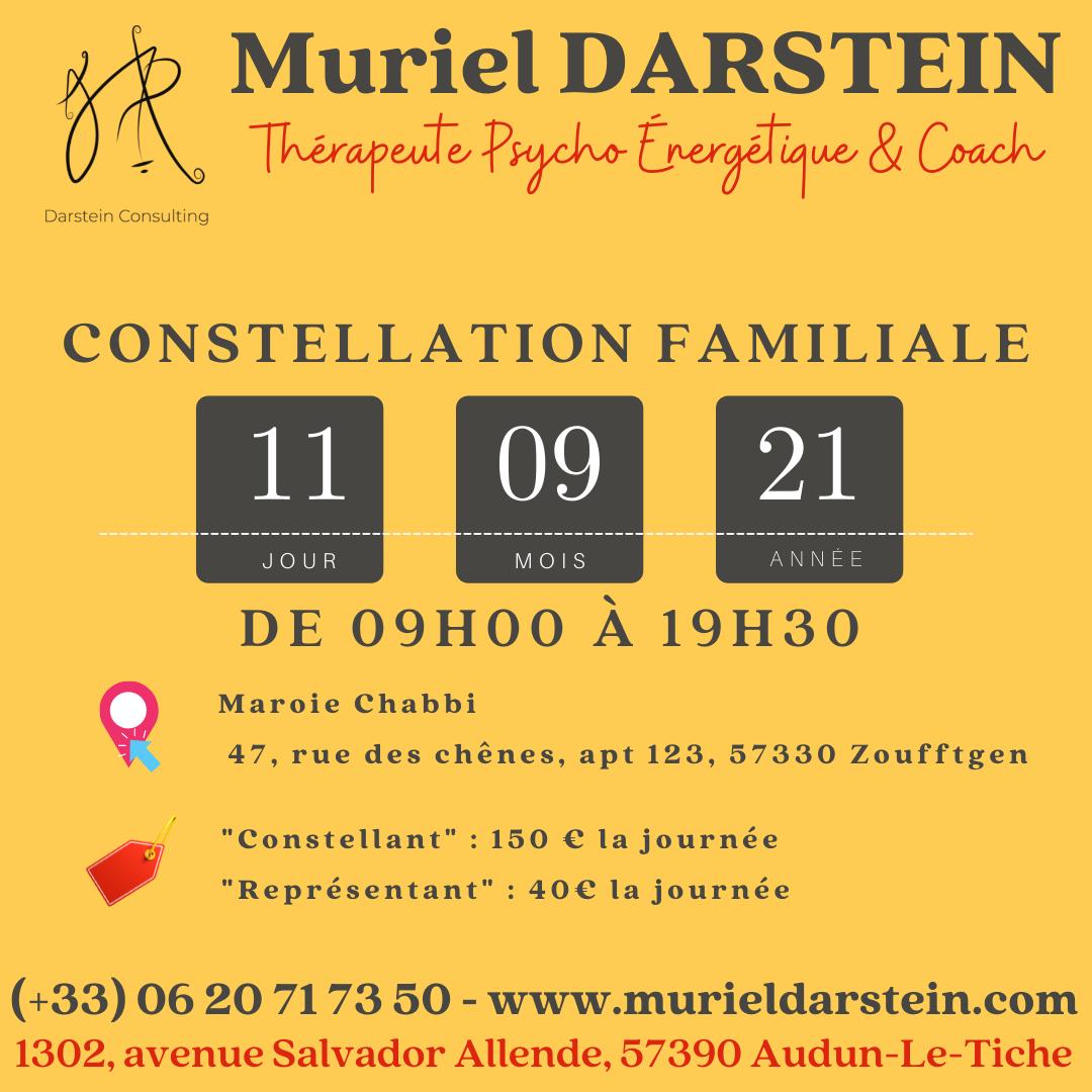 Journée de Constellations Familiales du Samedi 11 Septembre 2021 à Zoufftgen (57)
