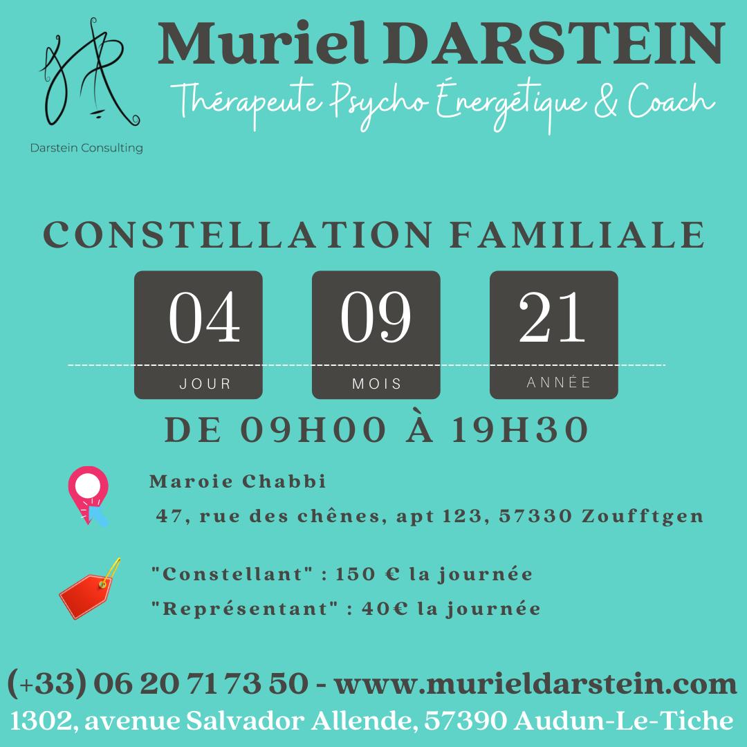 Journée de Constellations Familiales du Samedi 04 Septembre 2021 à Zoufftgen (57)
