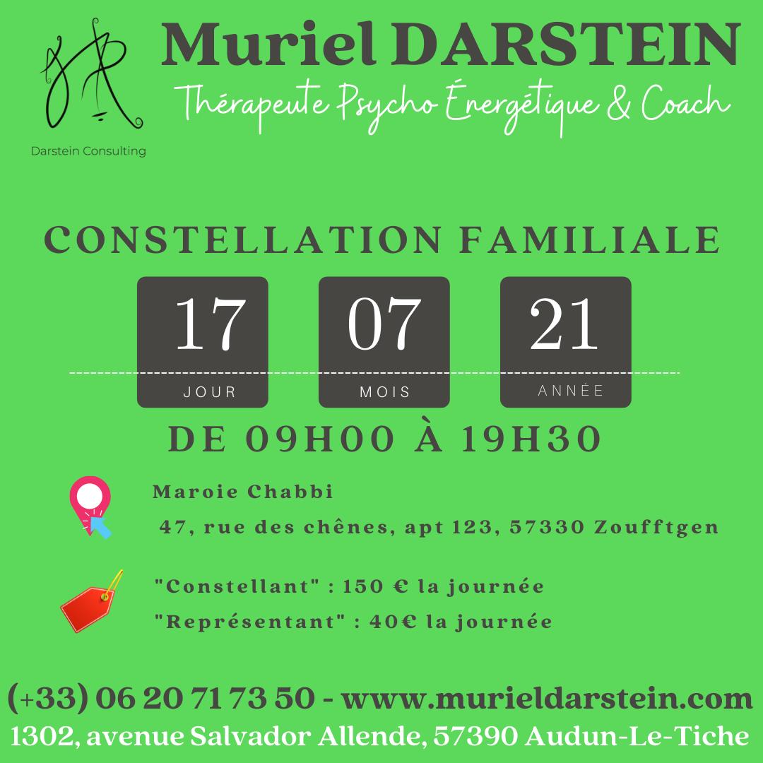 Journée de Constellations Familiales Samedi 17 Juillet 2021
