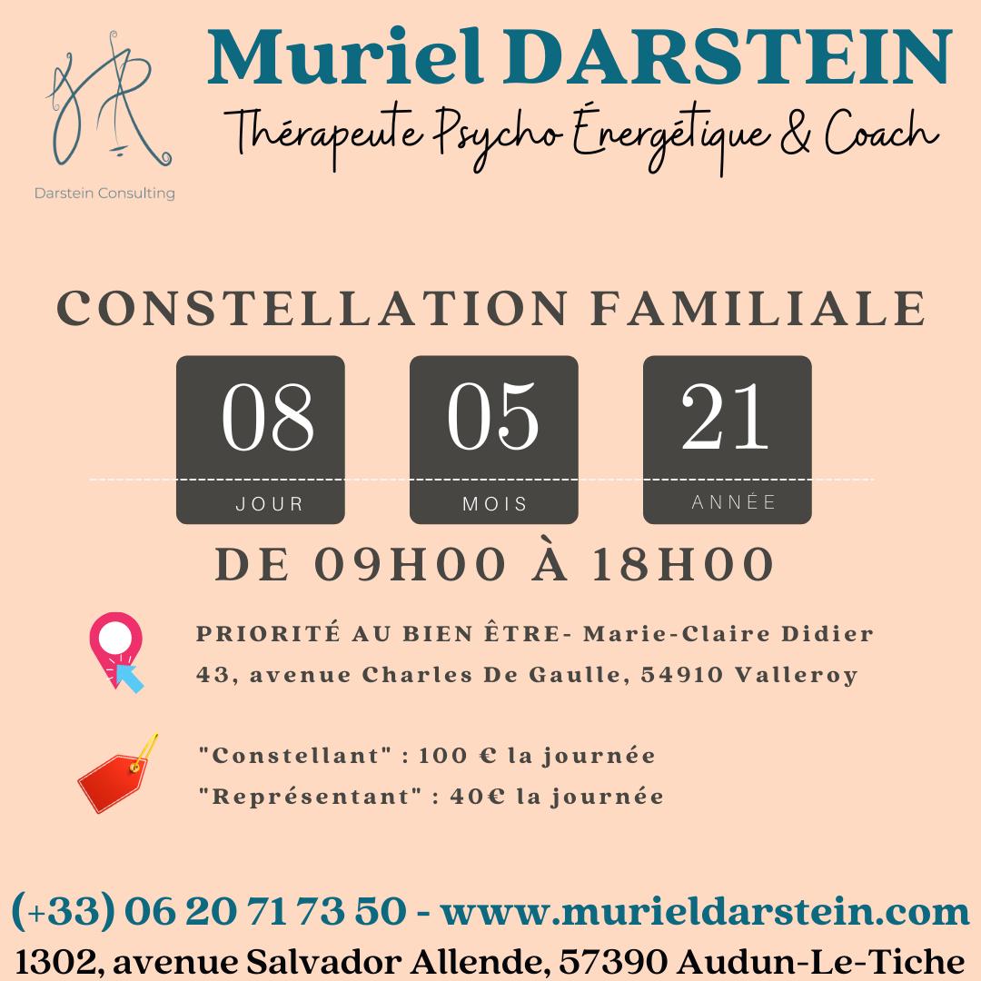 Journée de Constellations Familiales Samedi 8 Mai 2021