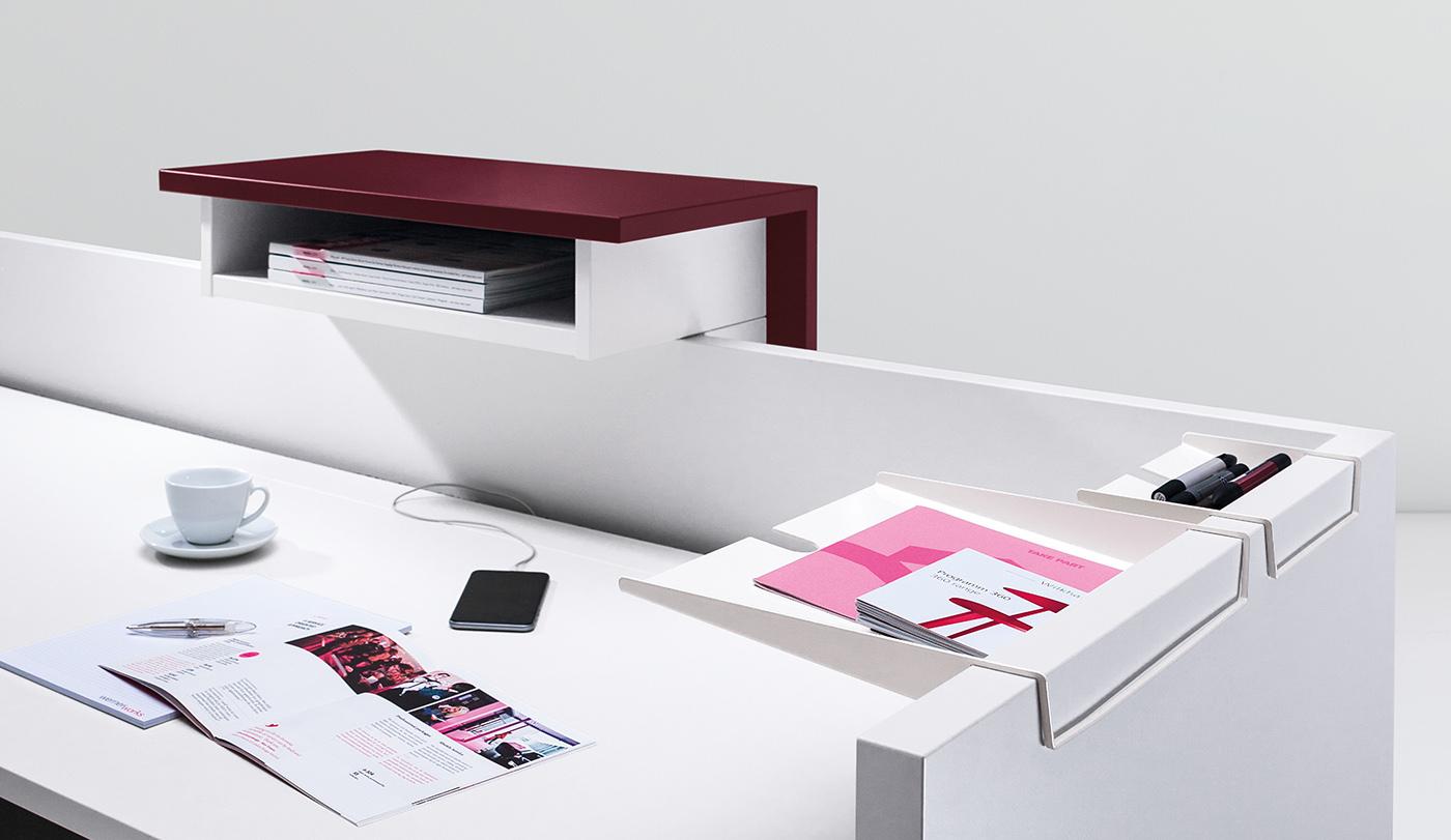 Ablageschalen, DIN A4- und Stiftablage