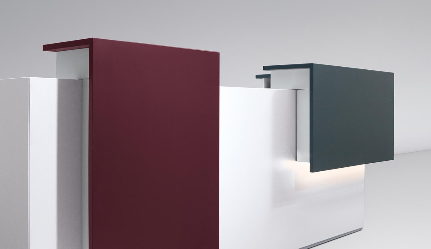 Optional ist eine Beleuchtung unterhalb der Counteraufsätze möglich.