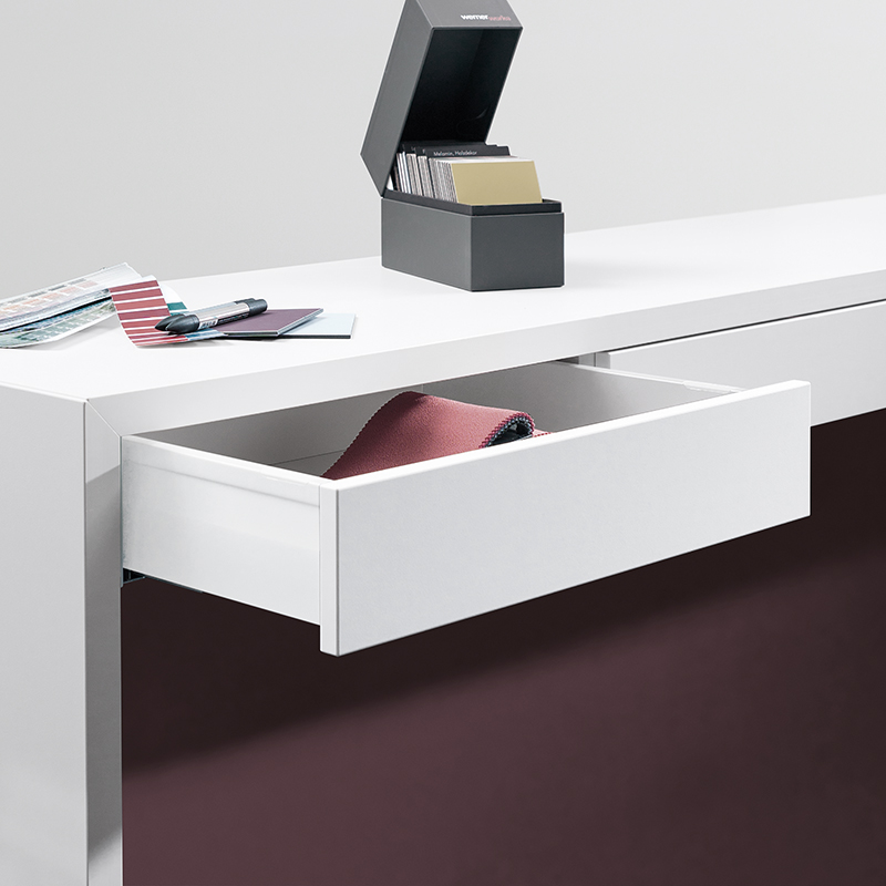 Drawers can be installed under the bridge, on both sides.