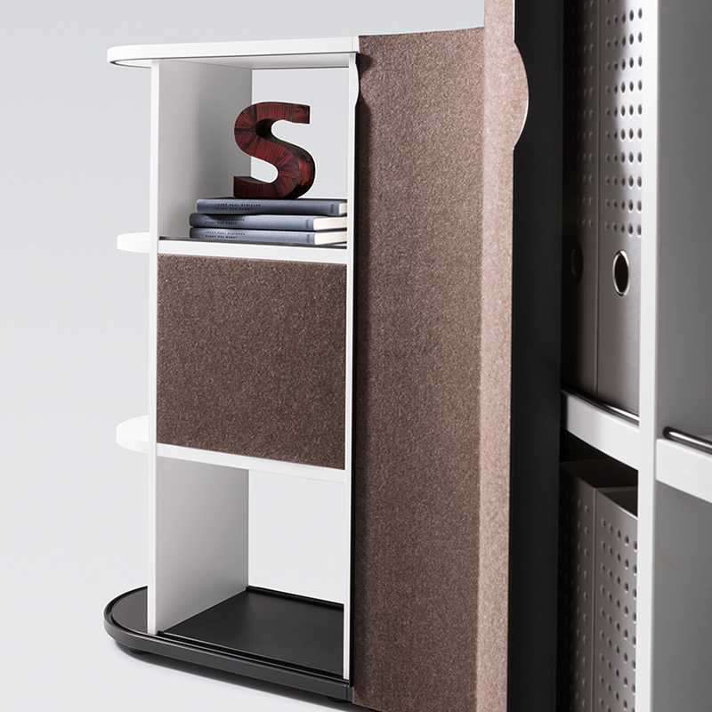 "The moveable felt blind, ""slider"", also act as an acoustic shield."