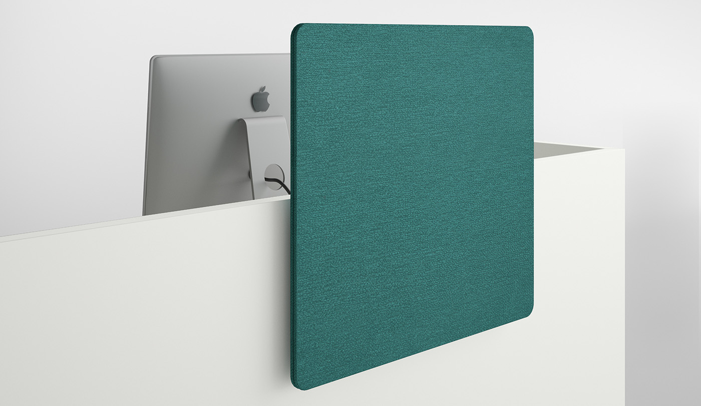 Screen panels with fabric covers can be freely positioned on the side elements.