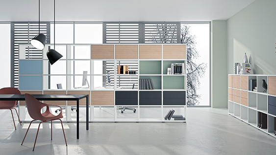 basis view – office shelf with an outlook