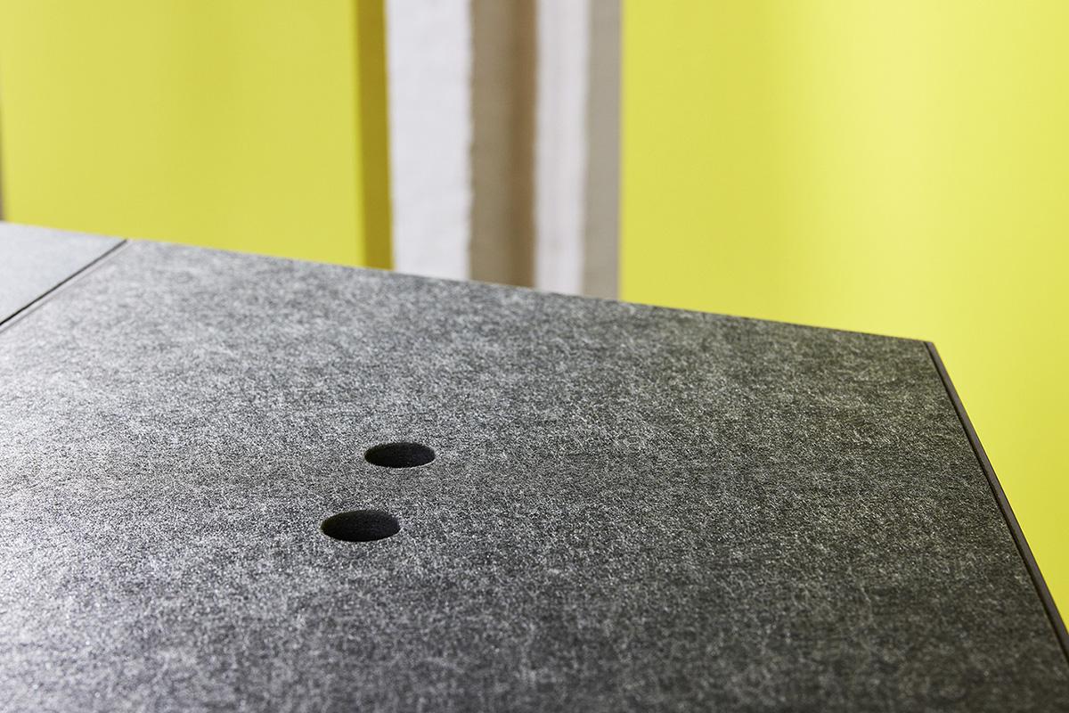 Fiber composite as acoustic absorber