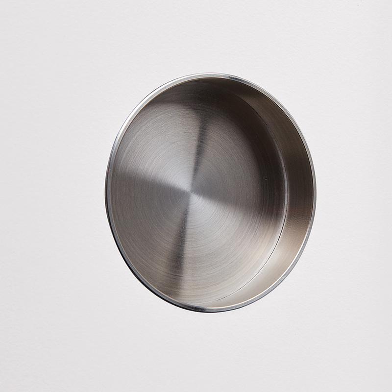Griffmuschel Ø 6 cm, Edelstahl gebürstet