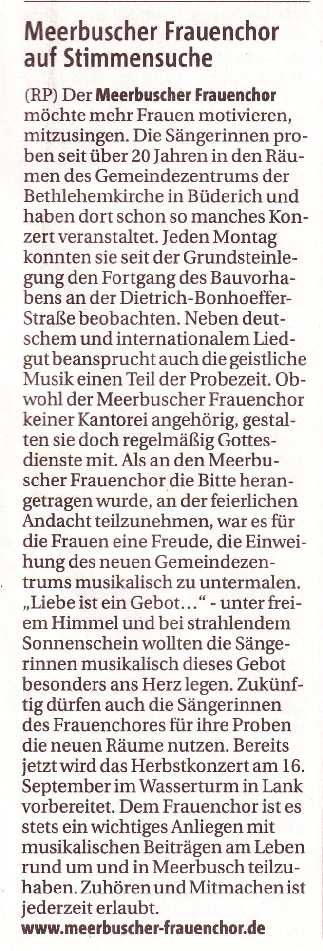 Rheinische Post vom 28. Juni 2012