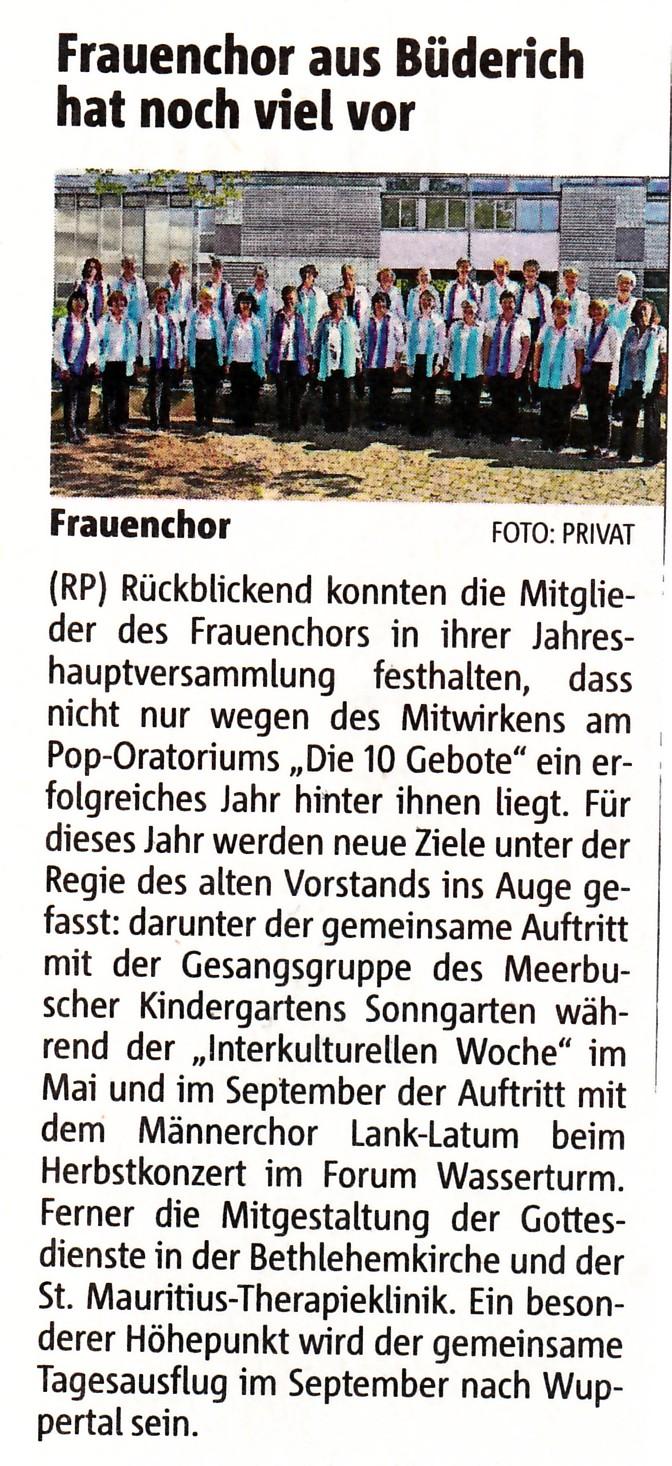 Rheinische Post vom 16. März 2012