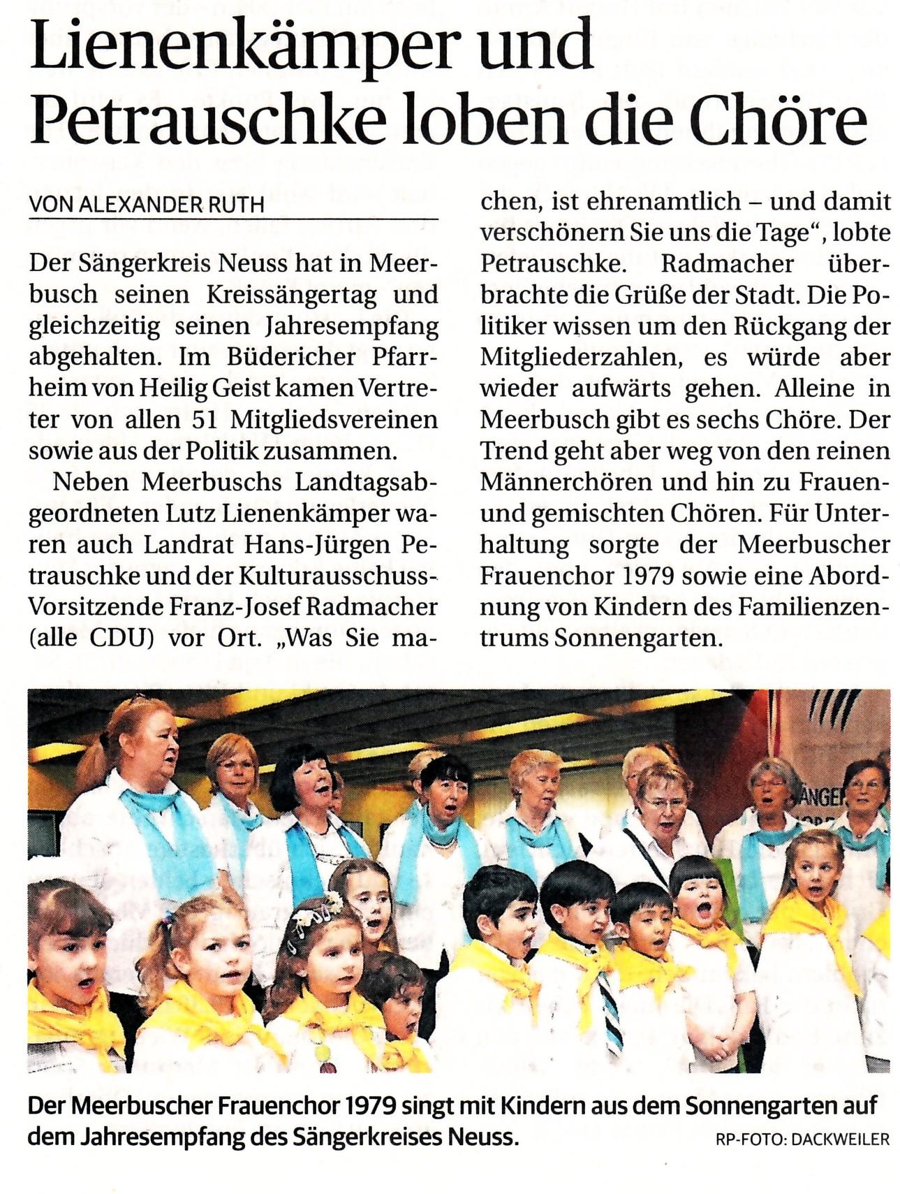 Rheinische Post vom 11. März 2013