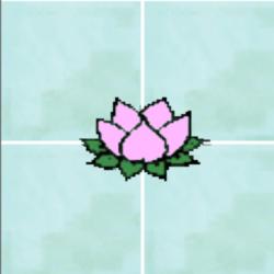 fleur de lotus grands carreaux