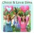Bouton Choco&Lova Sims