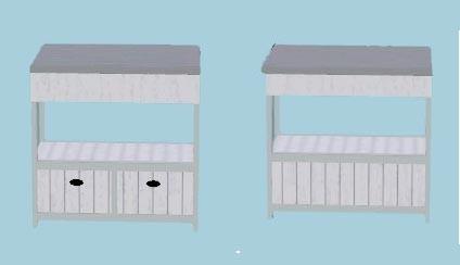 comptoir (vue face /dos)