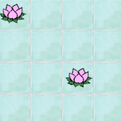 fleur de lotus petits carreaux