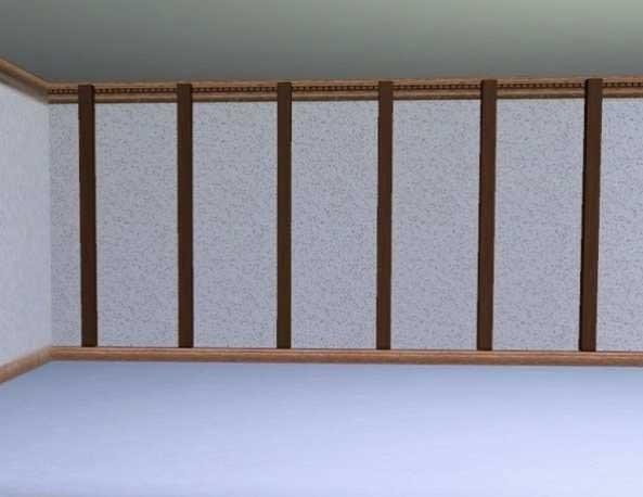 petites poutres verticales mur