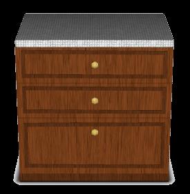 comptoir tiroirs