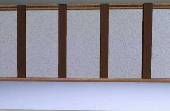 grosses poutres verticales mur