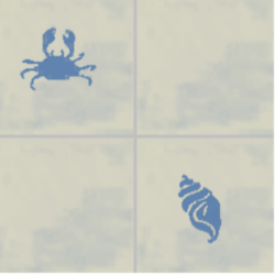 coquillage et crabe