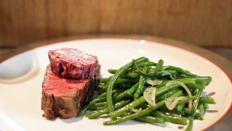 rezept steak mit rotweinbutter und bohnen rainer sass der ndr fernsehkoch. Black Bedroom Furniture Sets. Home Design Ideas