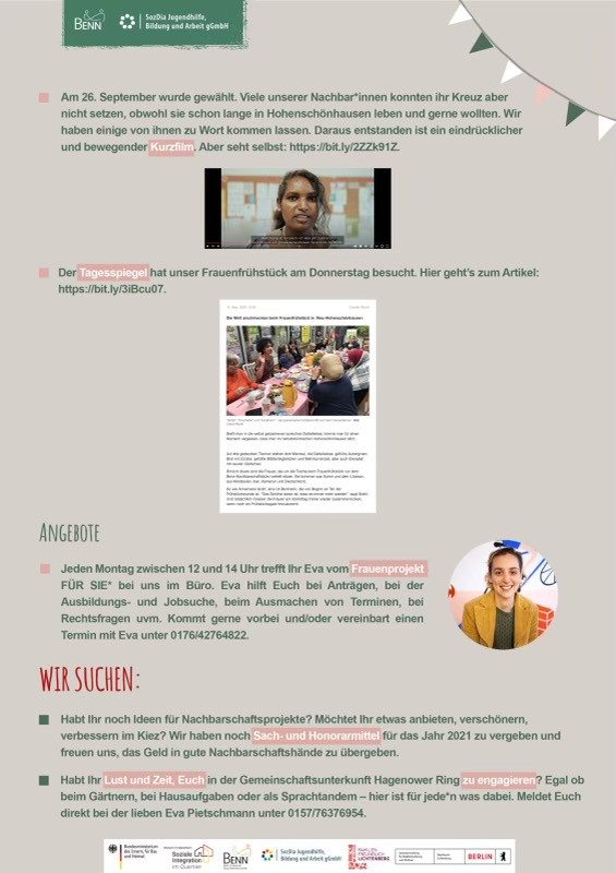 Seite 2 unseres aktuellen Newsletters