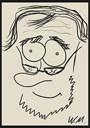 Zeichnung von Wolfgang Meilensteins Gesicht