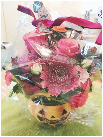 エッセンシャルオイル アロマ 麹 糀 Aroma & Koji cafe salon YORIMICHI 北浦和 浦和 自宅サロン ハロウィン フラワーアレンジメント ピンク