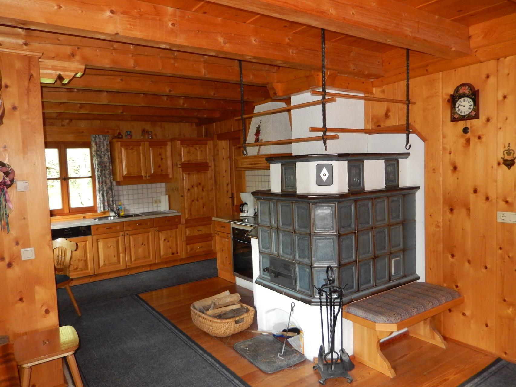 Kachelofen Bio-Blockhaus Koglerhütte