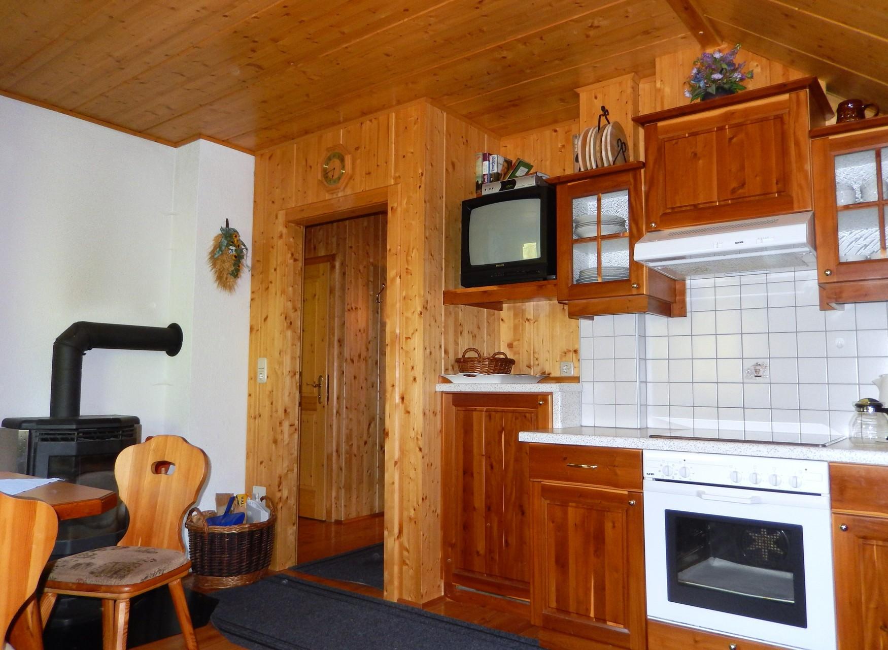 Küche des Kleinen Ferienhauses Koglerhütte