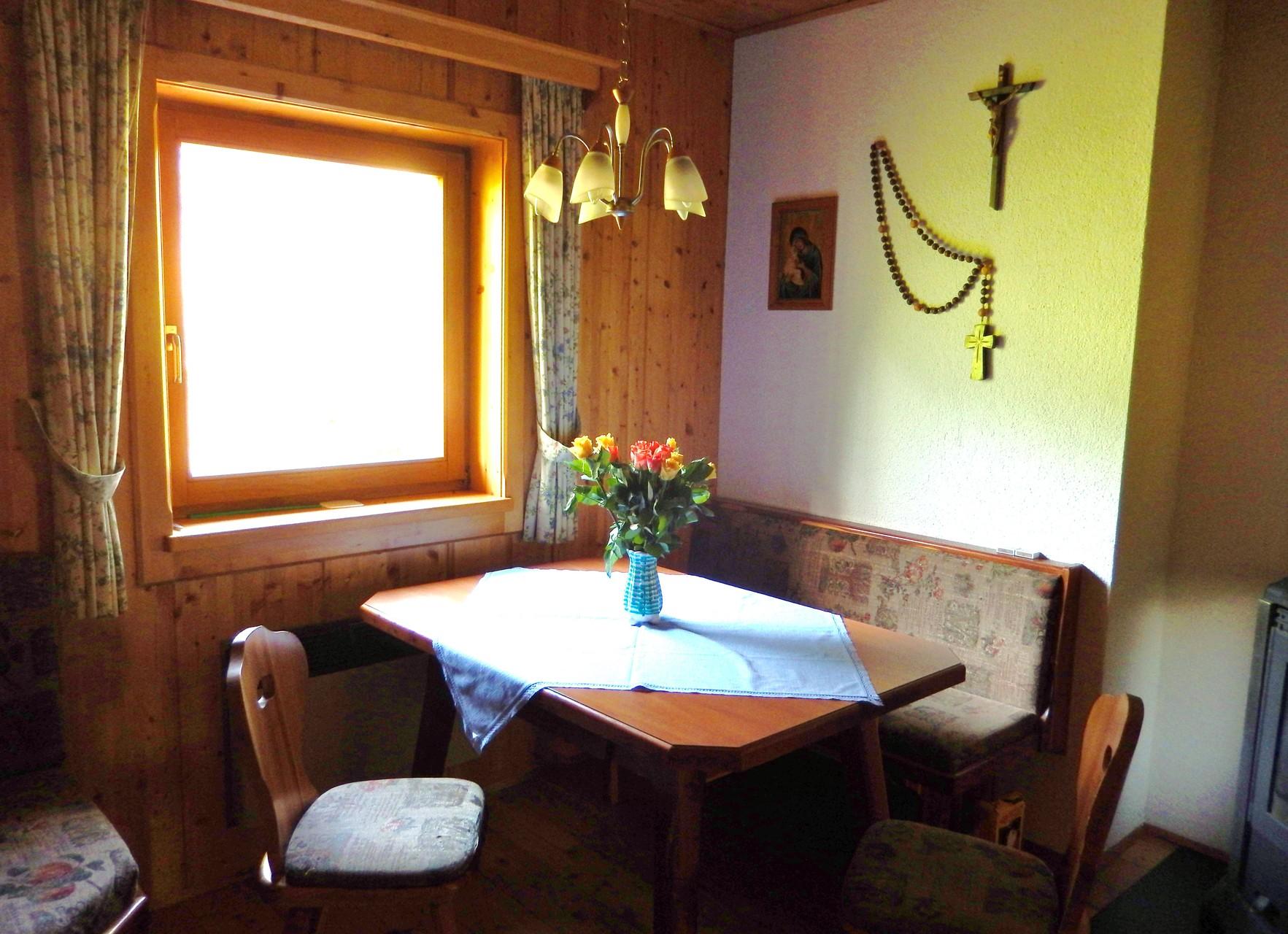Essbereich Kleines Ferienhaus Koglerhütte