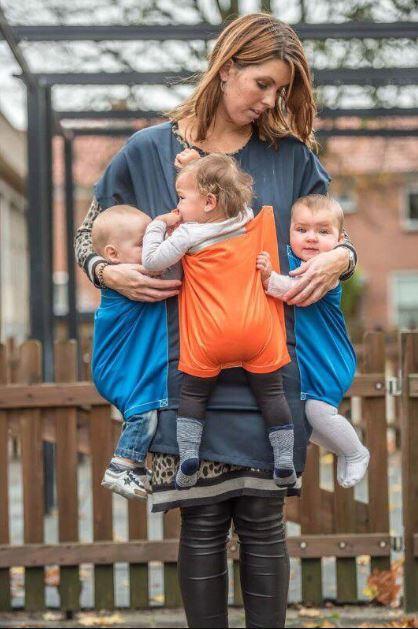 Baby Mover - professionelle Evakuierungsschürze für bis zu 3 Babys und 2 Kleinkinder durch eine einzige Person