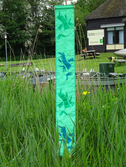banner Handen voor Textiel festival Weerribben